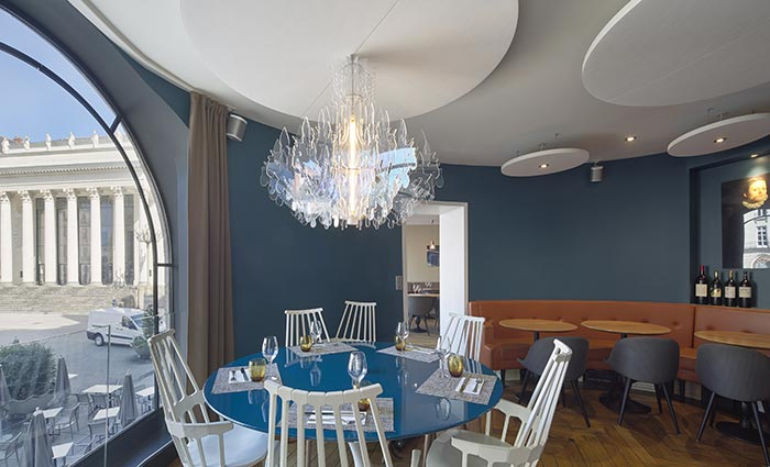 Restaurant charles H aménagement design contemporain