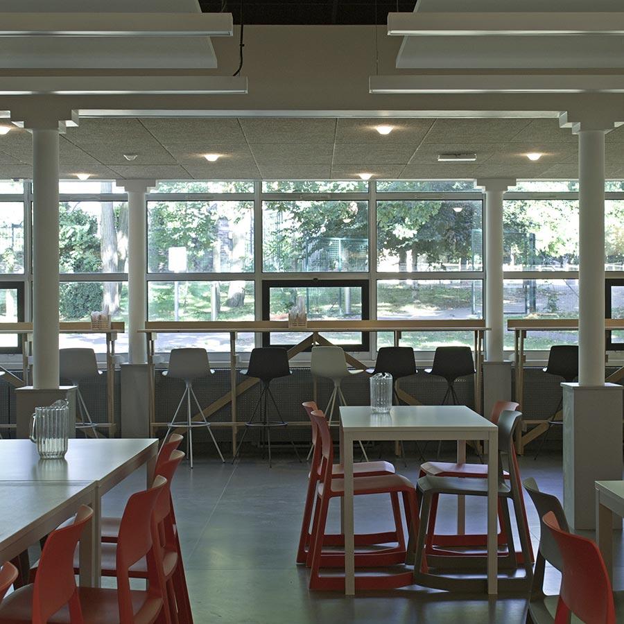 aménagement du restaurant du crous nantes
