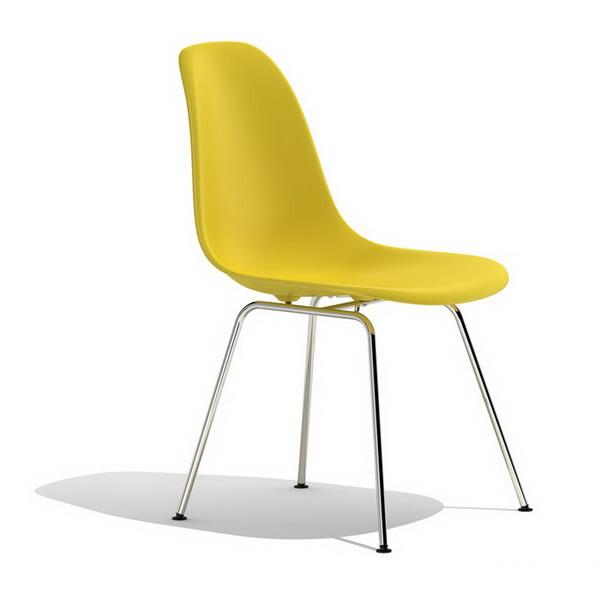 chaise jaune vitra eames shell