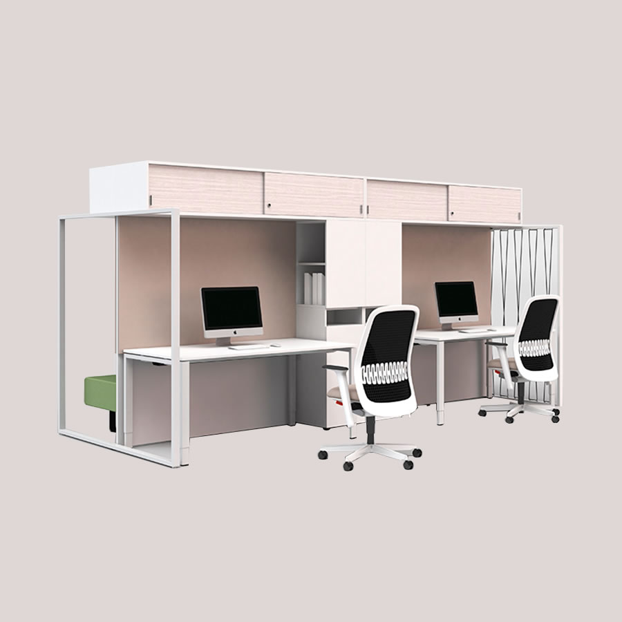 espace de travail aménagé par IDM