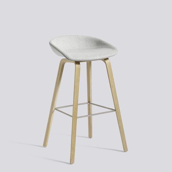 chaise stool hay blanc gris